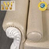 金明豪实木家具家居全屋定制原木欧美现代简约式雕刻贵妃沙发