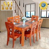 金明豪家具家居实木全屋定制原木现代简约新中式餐桌椅组合