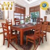 家具家居实木全屋定制现代中式红木新中式餐厅餐桌椅