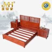 家具家居实木红木新中式现代全屋定制整木固装简约1.5米1.8米轻奢简约卧室单双人床