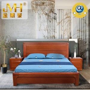 家具家居实木红木新中式现代中式全屋定制整木固装简约2.0米1.8米主卧加厚双人床