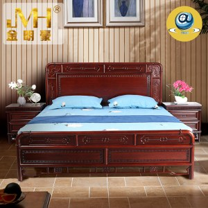 家具家居实木红木新中式现代中式全屋定制整木固装中国风禅意1.8米双人床