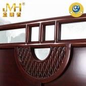 家具家居实木红木新中式现代中式全屋定制整木固装木床主卧1.8米2.0米双人床