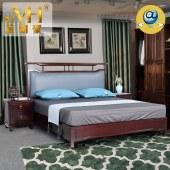 家具家居实木红木新中式现代中式全屋定制整木固装原木卧室1.8米双人床