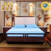 家具家居实木红木新中式现代中式全屋定制整木固装1.8米双人床婚床