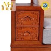 家具家居实木红木新中式现代中式全屋定制整木固装原木1+2+3简约沙发组合