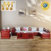 家具家居实木红木新中式现代中式全屋定制整木固装红花梨木沙发组合