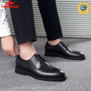 意达鸟牛皮男鞋