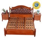 家具家居实木家具红木欧式原木新美式现代全屋定制整木固装1.8m婚床卧室双人床